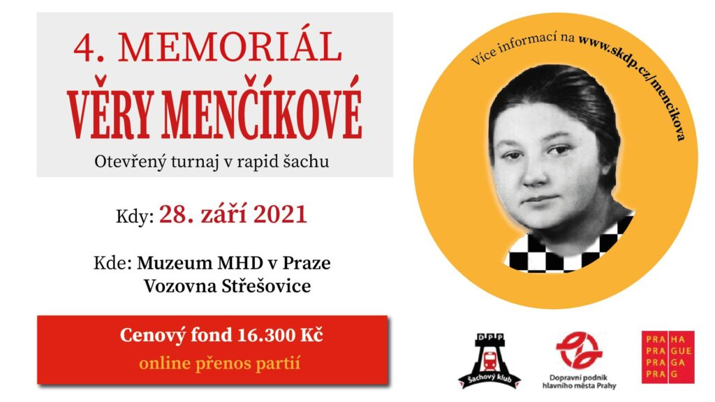 4. Memoriál Věry Menčíkové 2021 - plakát