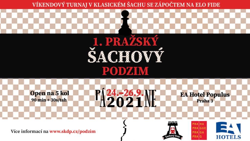 Pražský šachový podzim 2021 - plakát
